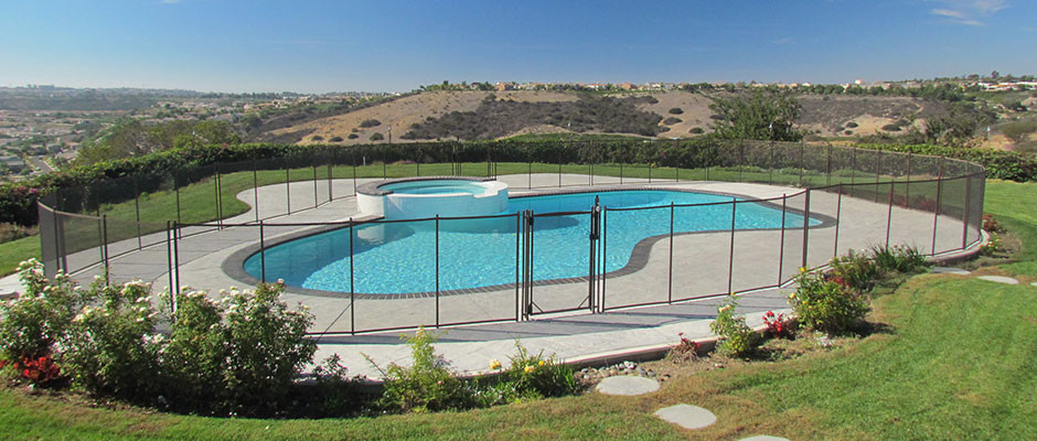 removable mesh pool fences
