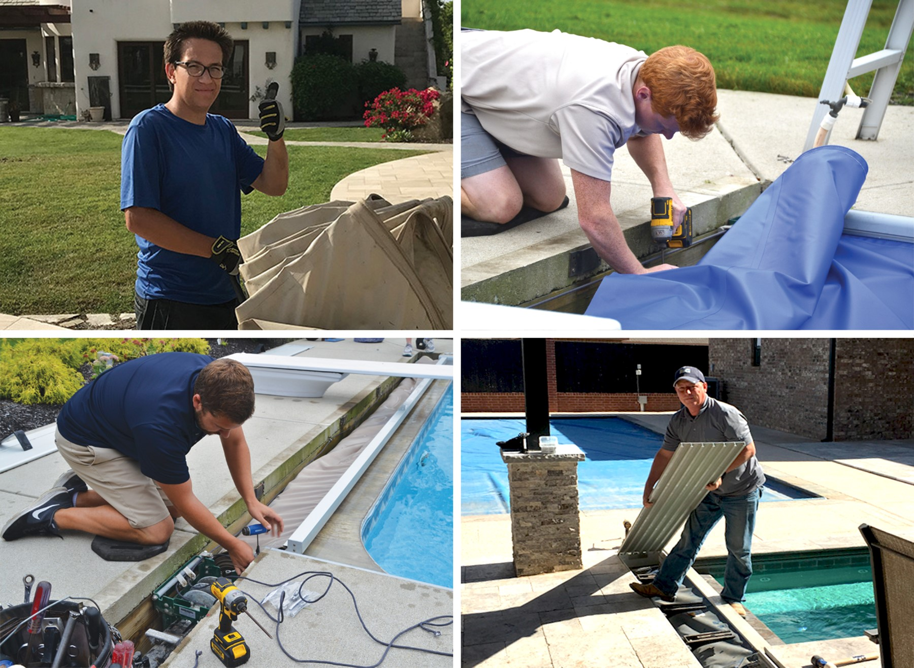 automatic pool cover service technicians