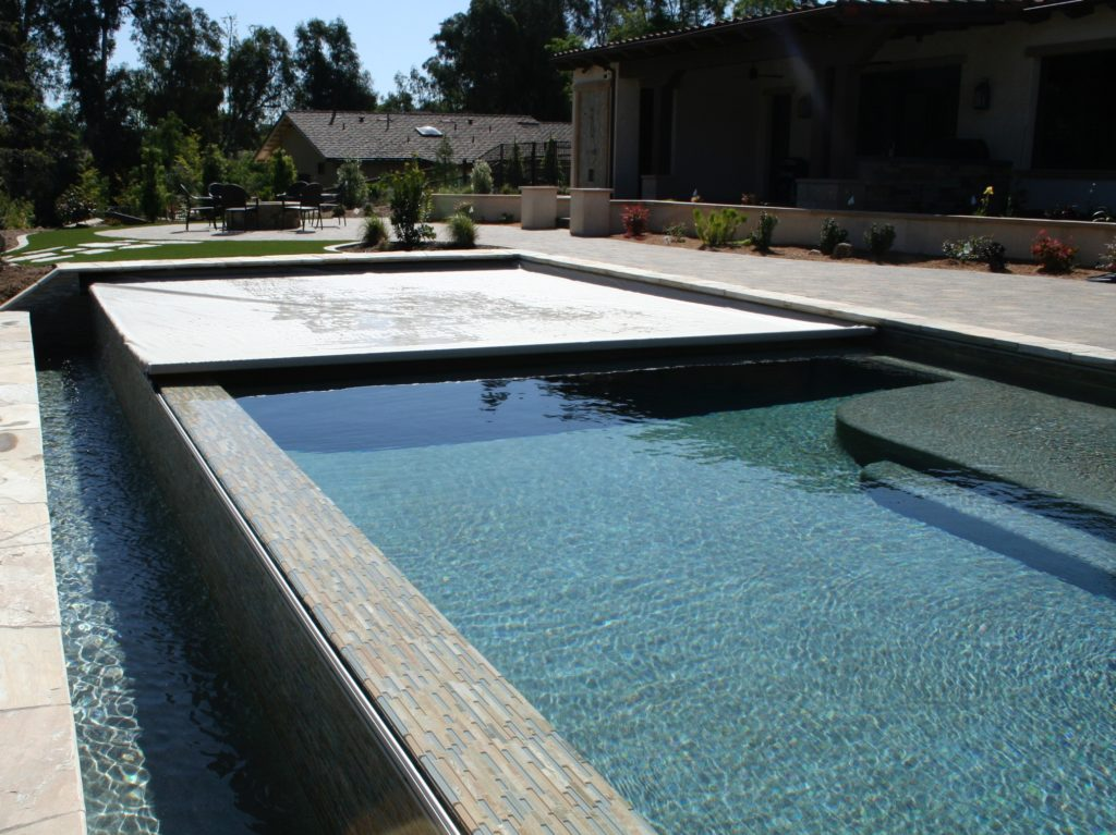 Automatic pool safety cover installed by the team at Poolsafe