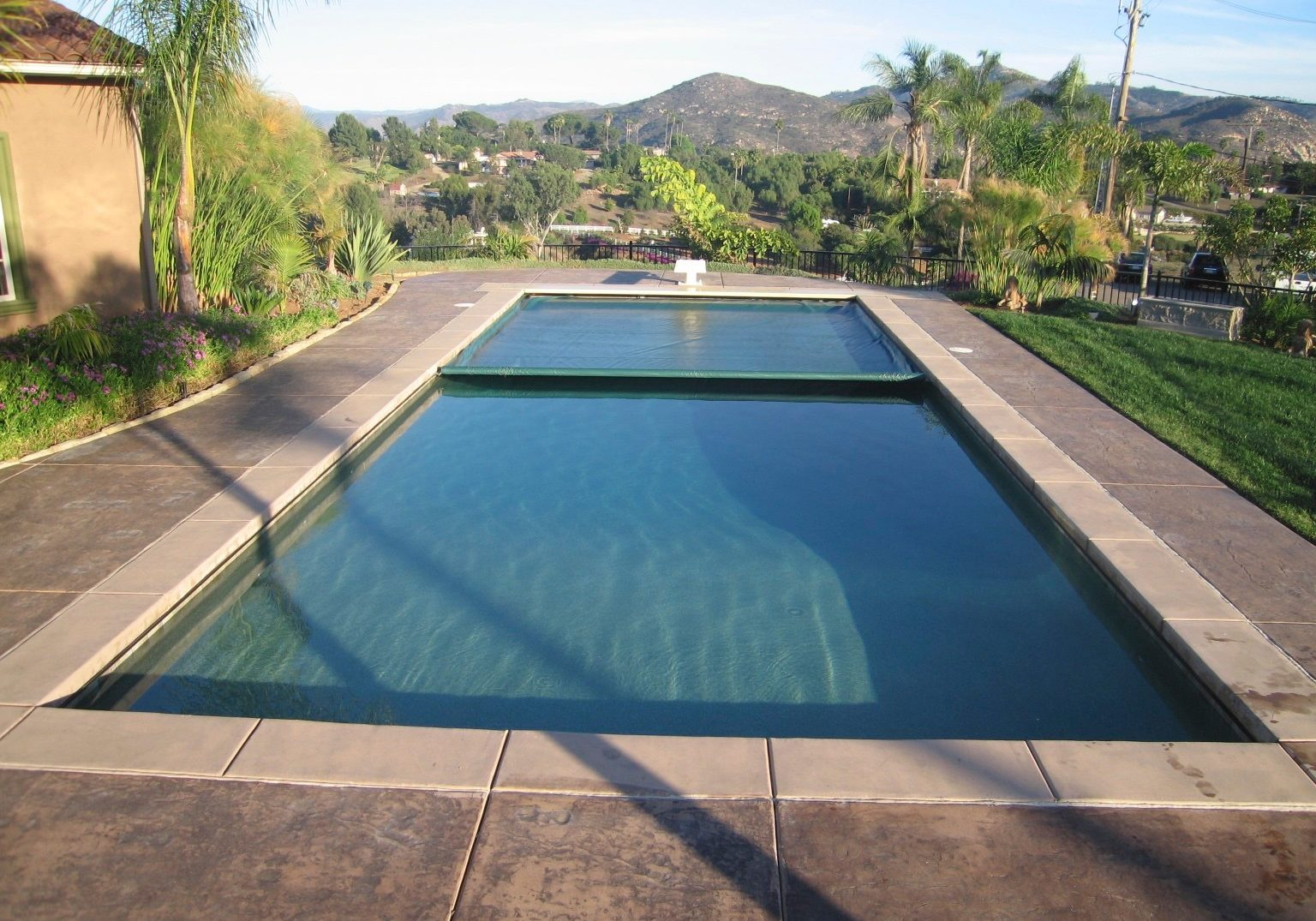 Automatic safety cover project in Orange County California done by Poolsafe