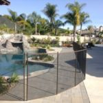 Mesh removable pool fence installed by Poolsafe in Orange County California